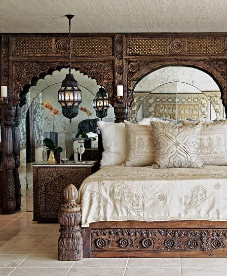 Finely Carved Style Bedroom